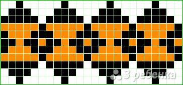 Схема фенечки прямым плетением 11495