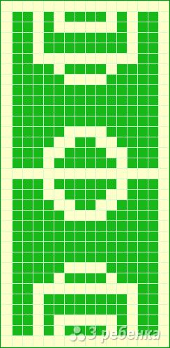 Схема фенечки прямым плетением 10403