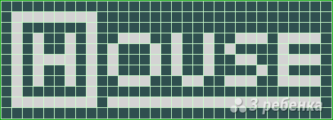 Схема фенечки прямым плетением 11261