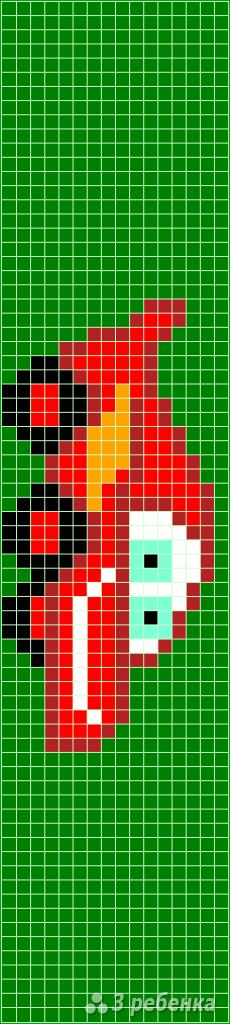 Схема фенечки прямым плетением 11505