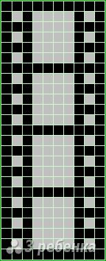 Схема фенечки прямым плетением 10292