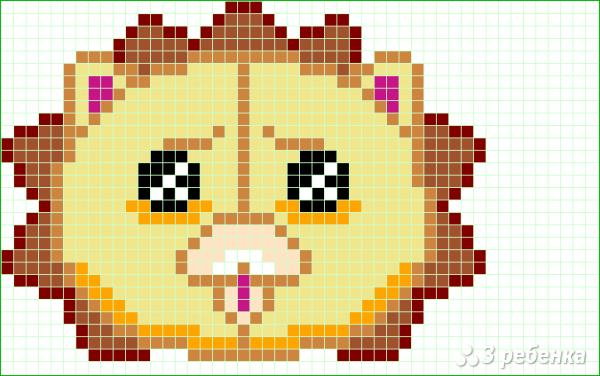 Схема фенечки прямым плетением 11338