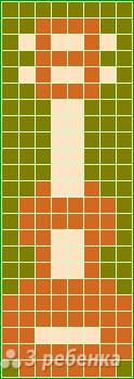 Схема фенечки прямым плетением 11489