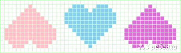 Схема фенечки прямым плетением 10536