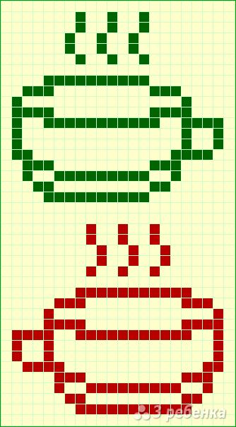 Схема фенечки прямым плетением 11247