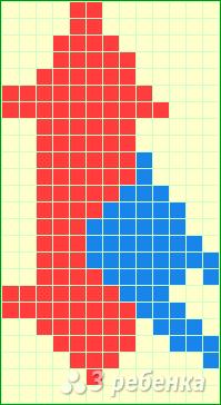 Схема фенечки прямым плетением 11455