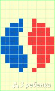 Схема фенечки прямым плетением 10757