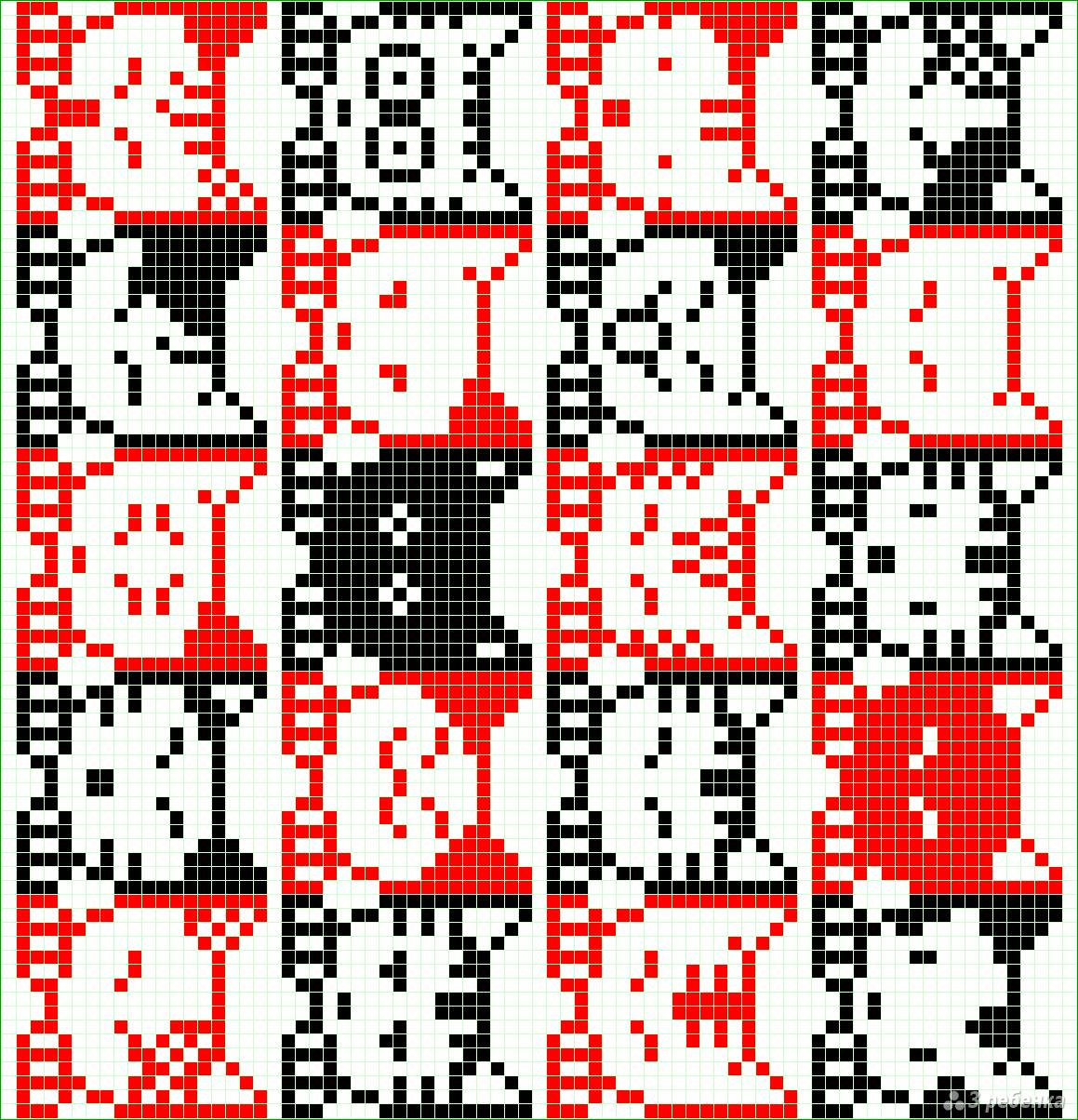 Рисунки для схем фенечек прямым плетением
