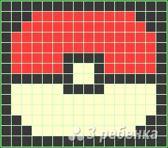 Схема фенечки прямым плетением 10189