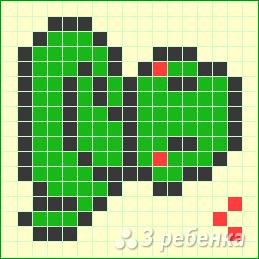 Схема фенечки прямым плетением 10236