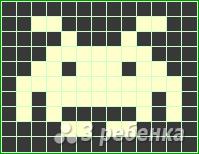 Схема фенечки прямым плетением 11443