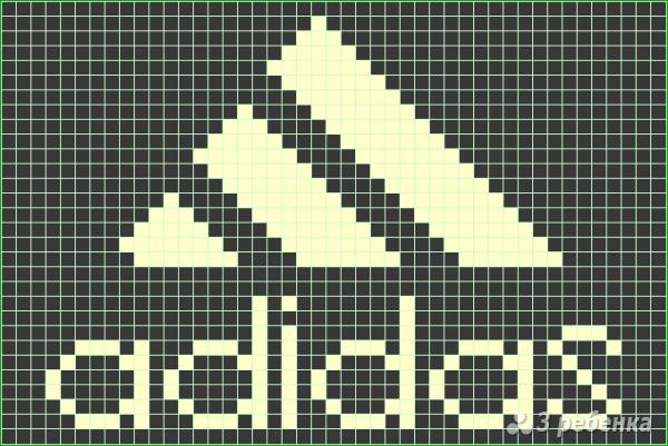 Схема фенечки прямым плетением 10090
