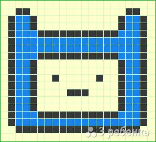 Схема фенечки прямым плетением 10195