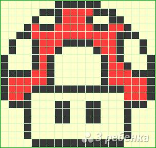 Схема фенечки прямым плетением 11438