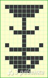 Схема фенечки прямым плетением 11269