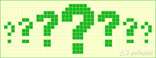 Схема фенечки прямым плетением 10677