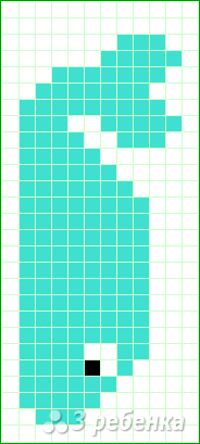 Схема фенечки прямым плетением 10650