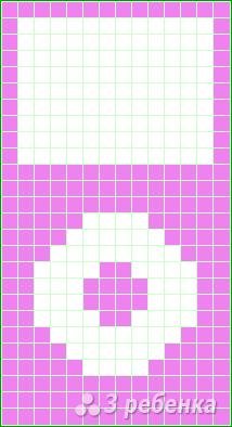 Схема фенечки прямым плетением 10640