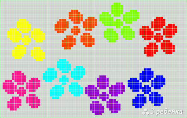 Схема фенечки прямым плетением 10248
