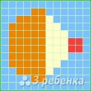 Схема фенечки прямым плетением 10200