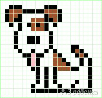 Схема фенечки прямым плетением 10312