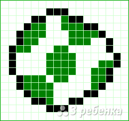 Схема фенечки прямым плетением 10608