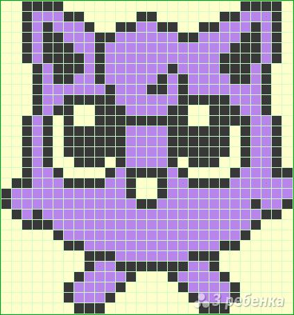 Схема фенечки прямым плетением 11234