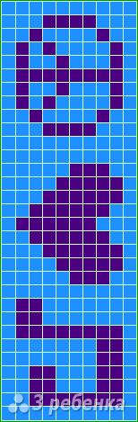 Схема фенечки прямым плетением 10561