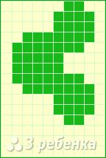 Схема фенечки прямым плетением 11280