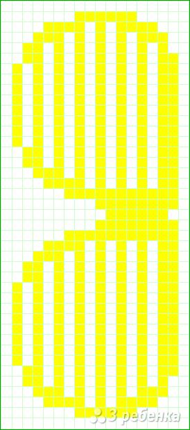 Схема фенечки прямым плетением 11369