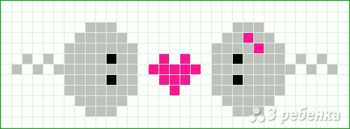 Схема фенечки прямым плетением 11350