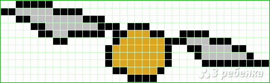 Схема фенечки прямым плетением 10615
