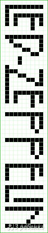 Схема фенечки прямым плетением 10568