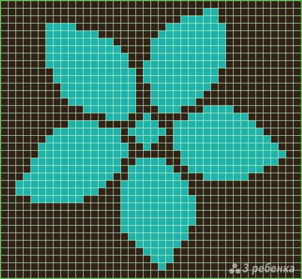 Схема фенечки прямым плетением 11450