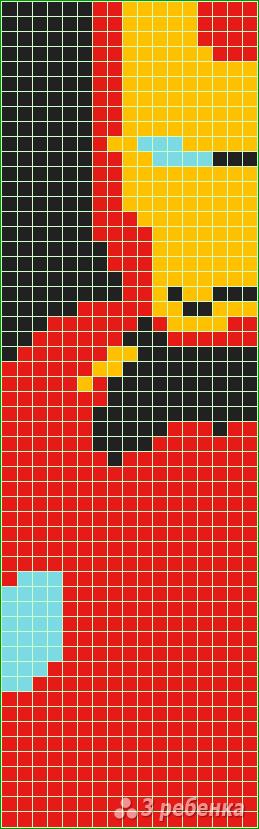 Схема фенечки прямым плетением 10355