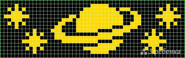 Схема фенечки прямым плетением 10101