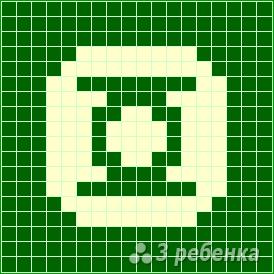 Схема фенечки прямым плетением 10415