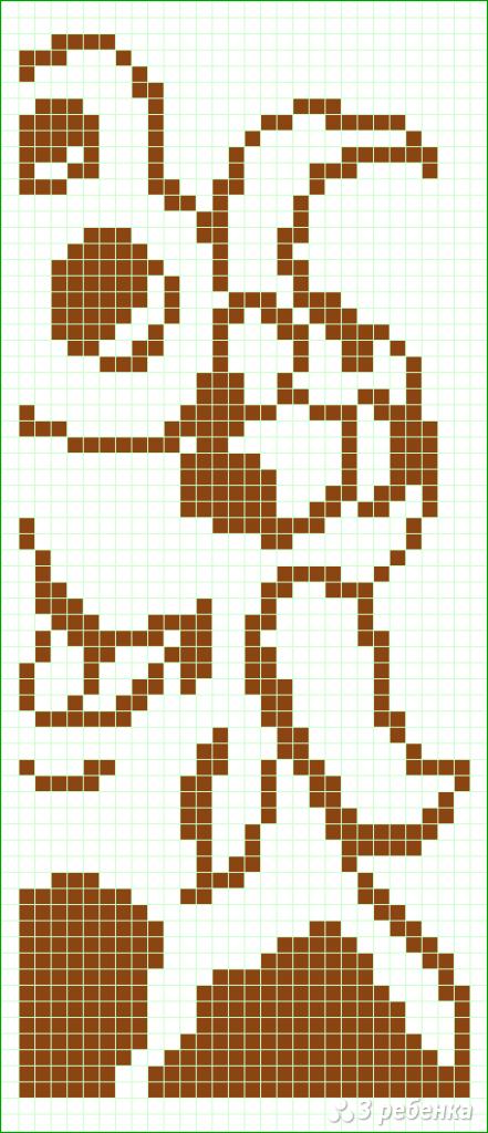 Схема фенечки прямым плетением 10369
