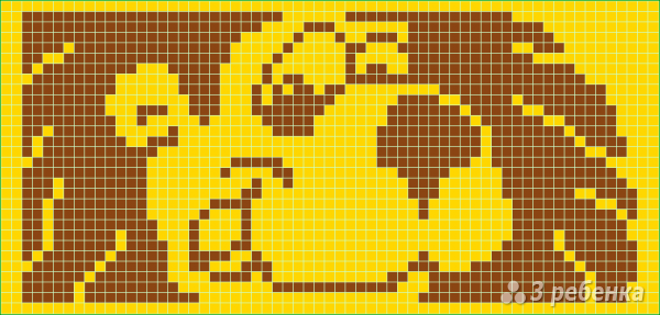 Схема фенечки прямым плетением 10542