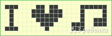 Схема фенечки прямым плетением 10655