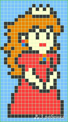 Схема фенечки прямым плетением 11516