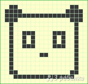 Схема фенечки прямым плетением 10701