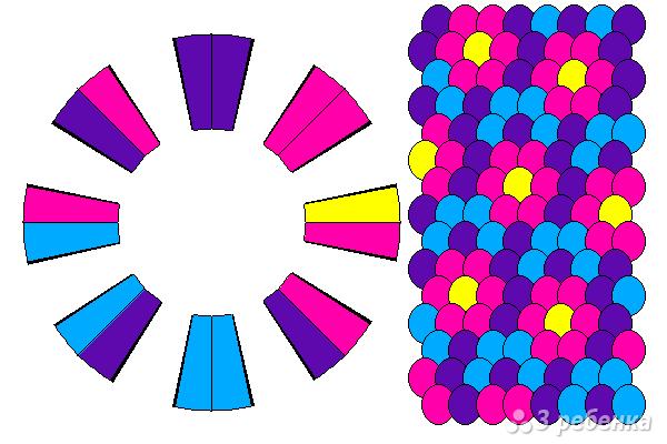 Схема фенечки кумихимо 12189