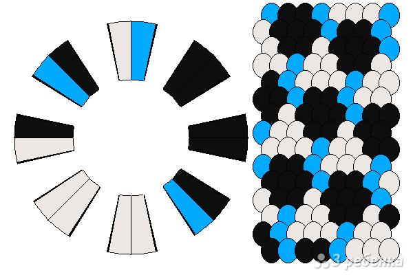 Схема фенечки кумихимо 12185