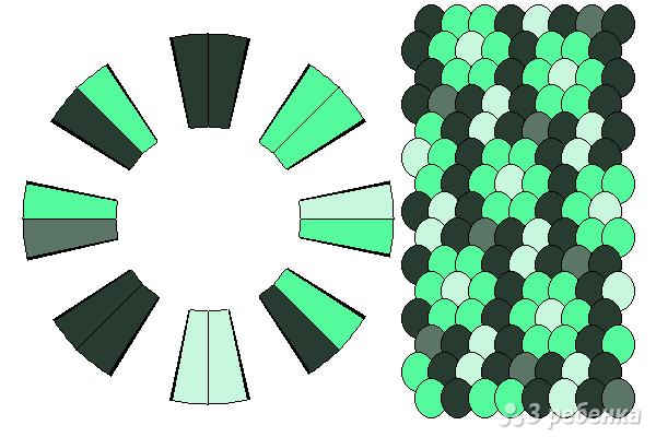 Схема фенечки кумихимо 12181