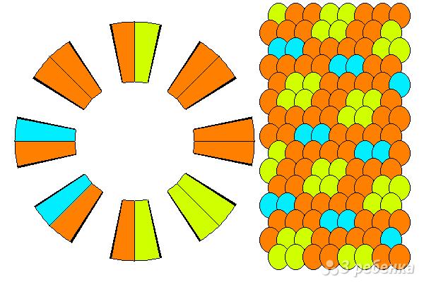 Схема фенечки кумихимо 12167