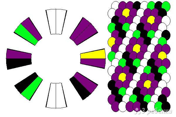 Схема фенечки кумихимо 12163