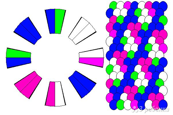Схема фенечки кумихимо 12159
