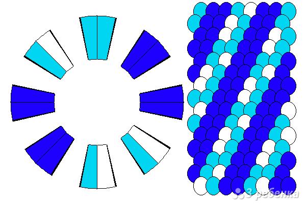 Схема фенечки кумихимо 12155