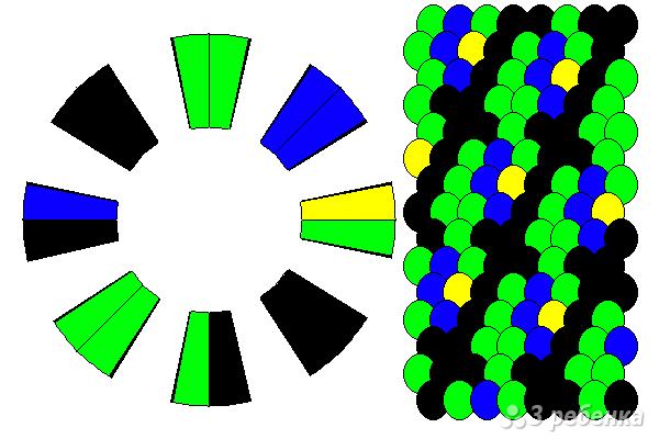 Схема фенечки кумихимо 12147